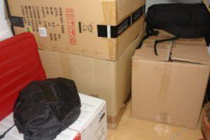 Kartons in der Ecke