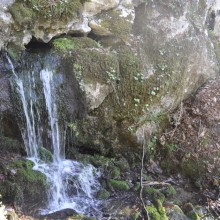 Foto eines Wasserfalls nahe des Projekts Castagnola