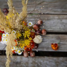 Foto eines herbstlicher Blumenstrauß