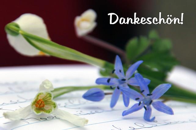 Foto von Blumen und ein Dankeschön!