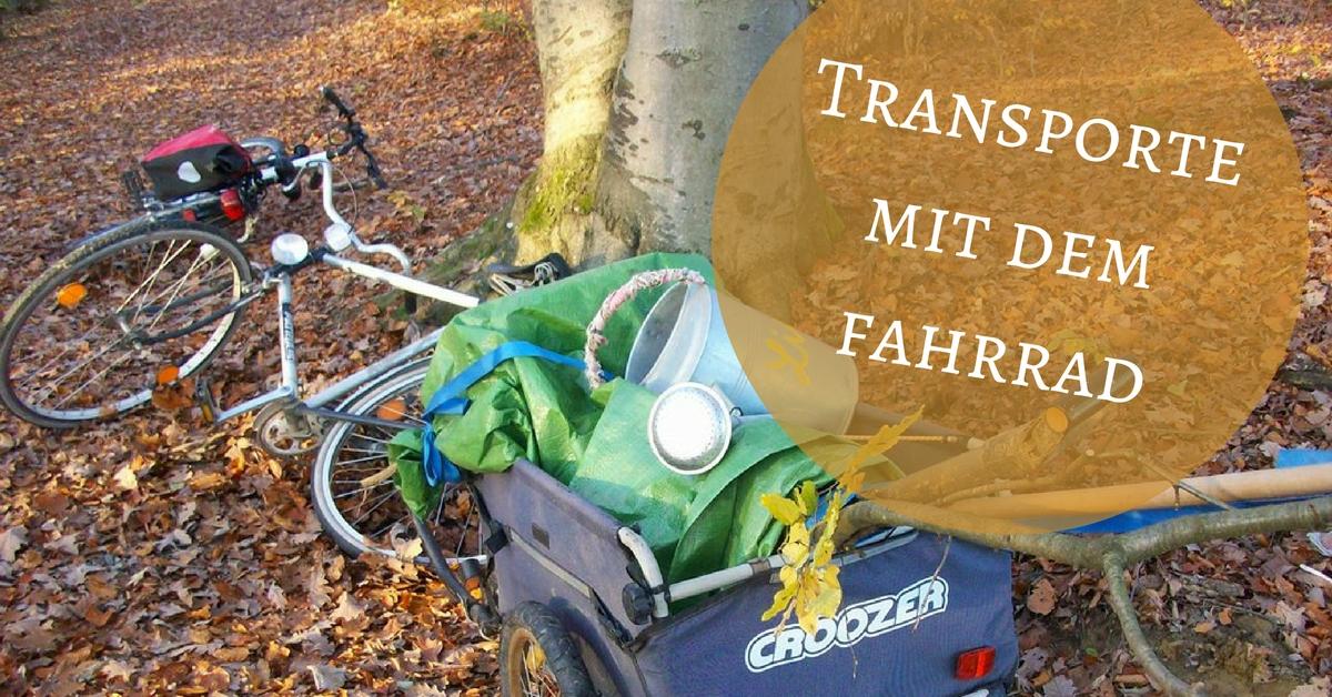 Transporte mit dem Fahrrad - Fahrradtaschen & Co.