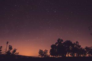 Foto eines Sternenhimmels