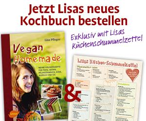Banner mit Hinweis auf Lisas neues Kochbuch