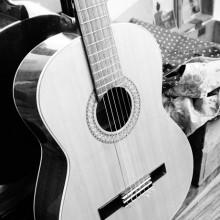 Foto von einer Gitarre