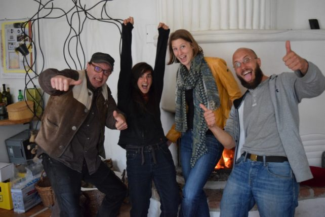 Christian, Lisa, Theresa und Michael freuen sich