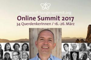 Sujet des Pioneers of Change Online Summit 2017