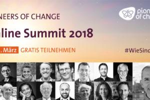 Banner für den Pioneers of Change Online Summit 2018